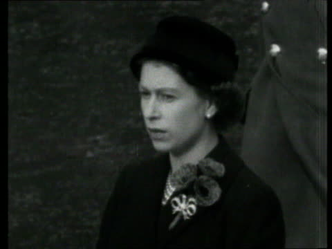queen and prince philip collection 7 t11115605 remembrance day ceremony at the cenotaph england london queen elizabeth ii in black queen laying wreath - remembrance day stock videos and b-roll footage