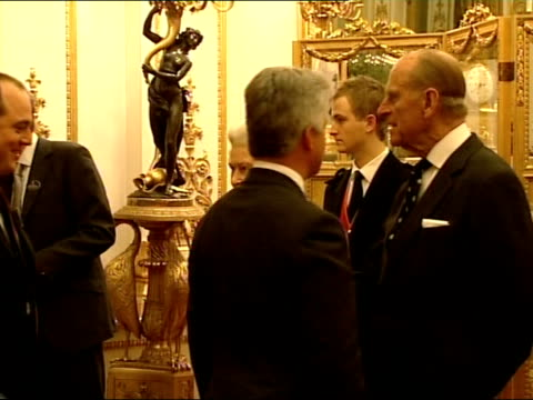 queen and prince philip greet mps and their partners / the reception more of the same including arrival of alan duncan mp and charles clarke mp... - alan duncan stock-videos und b-roll-filmmaterial