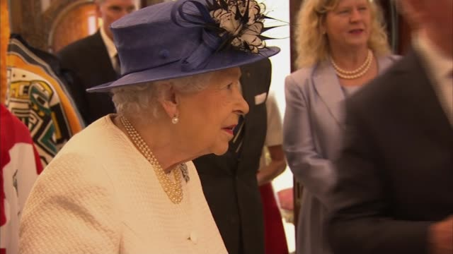 queen and prince philip visit canada house england london trafalgar square canada house photography*** gvs of canadian 'mounties' in ceremonial... - canada house stock videos and b-roll footage