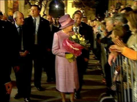 Queen and Prince Philip visit Malta as part of wedding anniversary celebrations Queen talking to people during walkabout / Queen and Duke of...