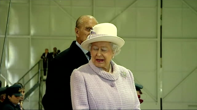 queen and prince philip's 67th wedding anniversary interior shots of queen elizabeth ii and prince philip duke of edinburgh at ceremony in raf... - elizabeth i of england stock videos & royalty-free footage