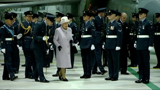 queen and prince philip's 67th wedding anniversary interior shots of queen elizabeth ii and prince philip duke of edinburgh inspecting personnel from... - elizabeth i of england stock videos & royalty-free footage