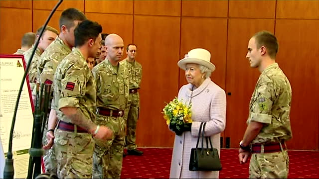 queen and prince philip's 67th wedding anniversary iterior shots of queen elizabeth ii and prince philip duke of edinburgh meeting 39 engineer... - elizabeth i of england stock videos & royalty-free footage