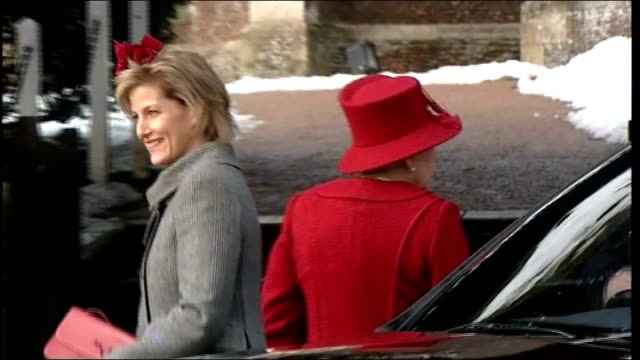 Queen and Royal Family attend Sandringham church service on Christmas Day ENGLAND Norfolk Sandringham General views people waiting for Royal Family...