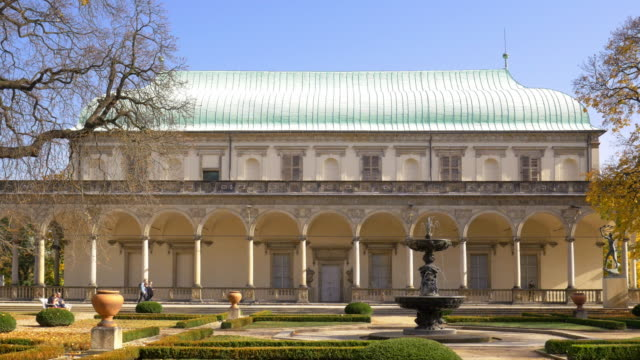 queen anne's summer palace in royal garden of prague castle - hradcany castle stock videos and b-roll footage