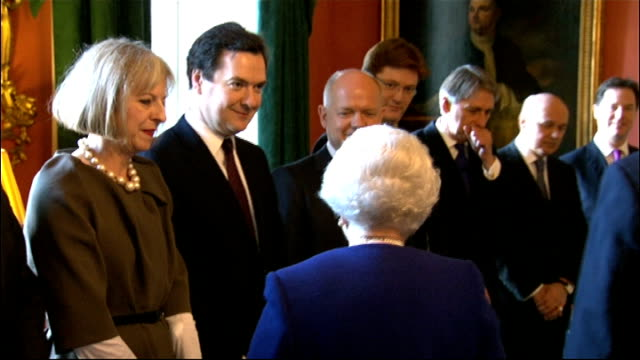 arrival and gvs cabinet meeting england london downing street photography *** queen elizabeth ii along with prime minister david cameron to meet... - david cameron politician stock videos & royalty-free footage