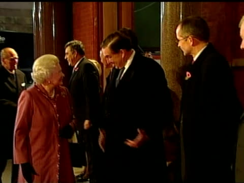 Queen attends celebration for the reopening of newly refurbished St Pancras Station Queen Elizabeth II out of car on to red carpet as greets...
