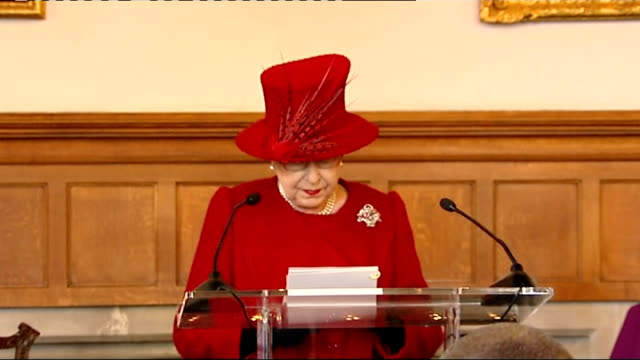 queen attends multifaith reception at lambeth palace queen elizabeth ii speech sot prince philip and i are delighted to be with you value of faith... - thank you englischer satz stock-videos und b-roll-filmmaterial