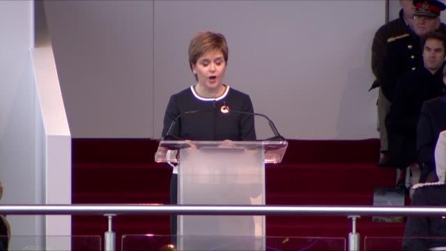 Queen attends Queensferry Crossing Inauguration Nicola Sturgeon MSP speech SOT Queen Elizabeth II speech SOT