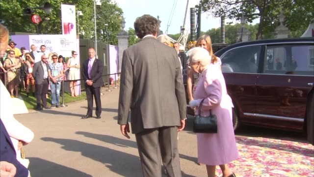 queen attends rhs chelsea flower show 2018 preview england london chelsea prince michael of kent and princess michael of kent along / princess anne... - princess michael of kent stock videos and b-roll footage