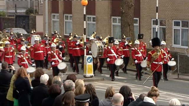 queen cancels appointments due to stomach bug wales swansea ext soldiers and goat mascot of 3rd battalion the royal welsh march along street in... - battalion stock videos and b-roll footage