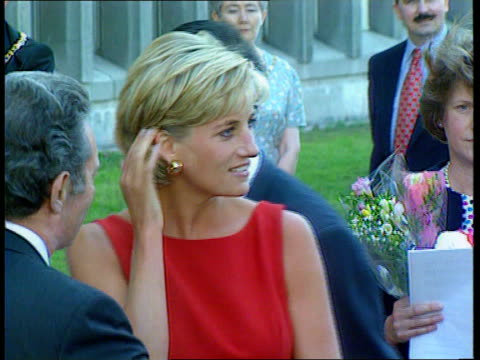 queen condemns diana book lib princess diana greeting well wishers - raw stock videos and b-roll footage