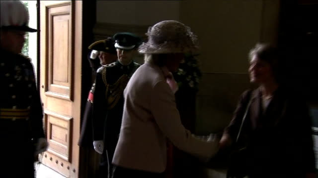 Queen Elizabeth and Prince Philip attend Drumhead Service of Remembrance at the Royal Hospital in Chelsea ENGLAND London Chelsea Royal Hospital EXT...