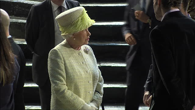 queen elizabeth and prince philip visit titanic studios where parts of game of thrones was filmed on june 23 2014 in belfast northern ireland - titanic belfast stock videos and b-roll footage