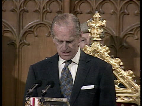 Queen Elizabeth and The Duke of Edinburgh's Golden Wedding Anniversary UK London Guildhall Prince Philip speech had 5 years of normal marriage until...