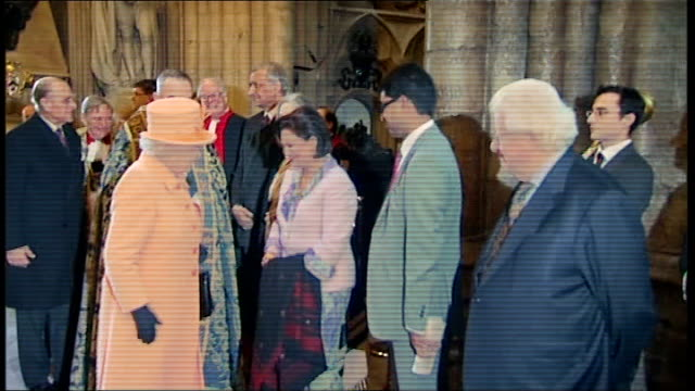 Queen Elizabeth attends Commonwealth Day of Observance service at Westminster Abbey ENGLAND London Westminster Abbey THROUGHOUT** Queen Elizabeth and...