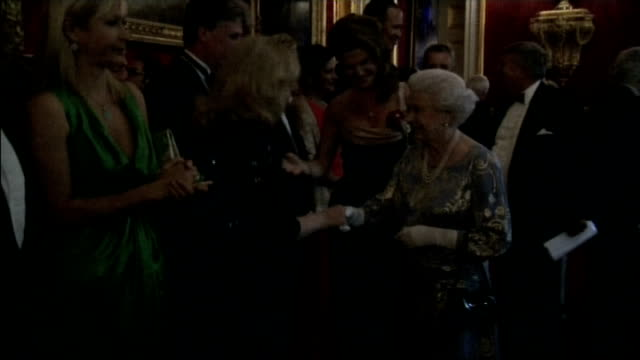 queen elizabeth attends rnib gala event at st james's palace; england: london: st james's palace: int various of queen elizabeth greeting and... - gala stock videos & royalty-free footage