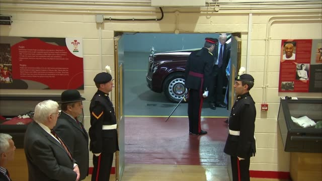 queen elizabeth attends roal welsh guards colours ceremony at millennium stadium in cardiff wales cardiff photography** people awaiting arrival /... - millennium stadium stock videos & royalty-free footage