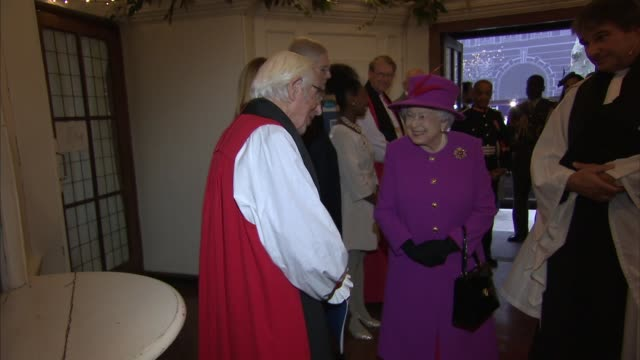 Queen Elizabeth attends Sculpture Union church service in Islington ENGLAND London Islington PHOTOGRAPHY*** Katherine Jenkins and Sir David Clementi...