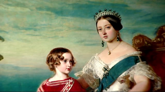 queen elizabeth becomes second longestserving british monarch london victoria and albert museum close shot portait of queen victoria prince albert... - victoria and albert museum london stock videos & royalty-free footage