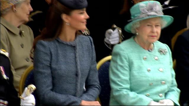 queen elizabeth diamond jubilee tour: nottingham: vernon park; england: nottinghamshire: nottingham: vernon park: ext queen elizabeth taking seat... - royal tour stock videos & royalty-free footage