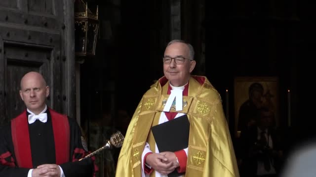 queen elizabeth ii, accompanied by the duchess of cornwall, arrives for a service at westminster abbey in london to mark 750 years since edward the... - religious service stock videos & royalty-free footage