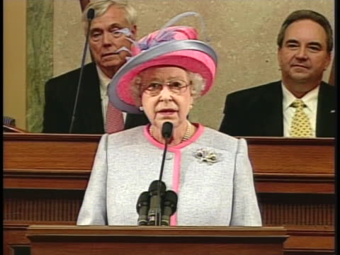 queen elizabeth ii addresses an audience regarding the virginia tech massacre - united states and (politics or government) stock videos & royalty-free footage