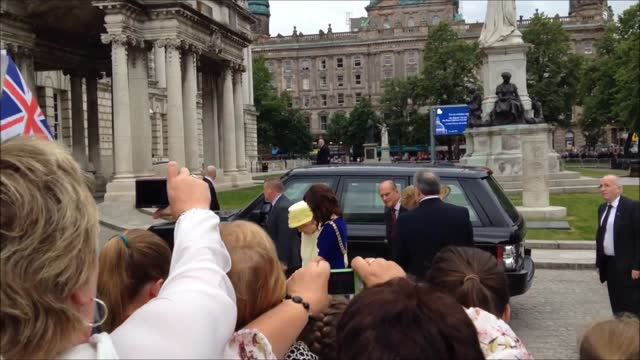 queen elizabeth ii and her husband prince philip, duke of edinburgh, visited belfast city hall on june 24. they are currently on a three-day visit to... - television game show stock videos & royalty-free footage