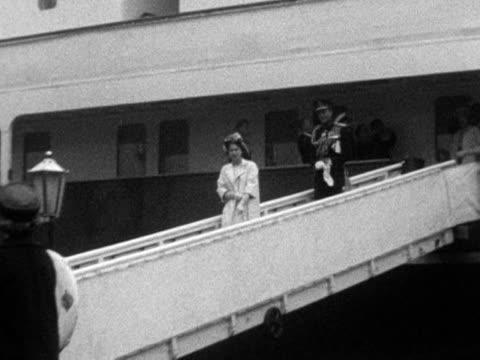 Queen Elizabeth II and Prince Phillip arrive in Wales
