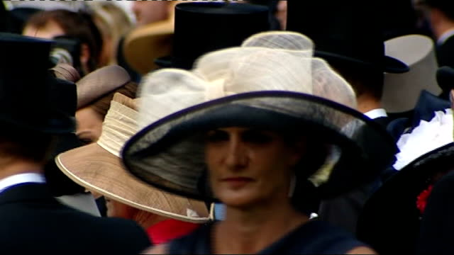 queen elizabeth ii and the duke and duchess of cambridge at epsom derby prince william wearing top hat / various shots of prince william duke of... - wealth stock videos & royalty-free footage