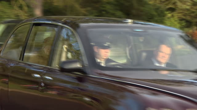 queen elizabeth ii at sandringham - chauffeur stock videos & royalty-free footage