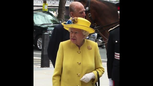 queen elizabeth ii at the queen and the duke of edinburgh open the new headquarters of the metropolitan police - königin elisabeth ii. von england stock-videos und b-roll-filmmaterial