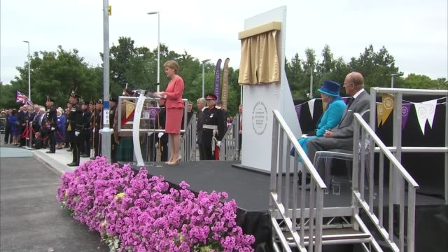 Queen Elizabeth II becomes longest reigning monarch Queen train journey Nicola Sturgeon MSP speech SOT / Queen Elizabeth II speech SOT / Queen...