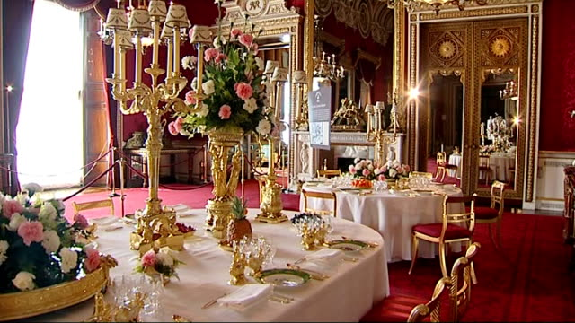 gvs and interviews more gvs of banquetting table including flowers chair place setting wine glasses with er inscribed salt and pepper pot detail... - pepper pot stock videos & royalty-free footage