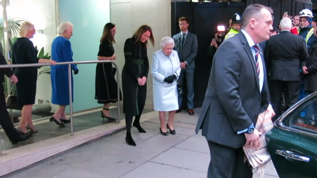 Queen Elizabeth II departs the BFC Showspace at 180 The Strand after presenting The Inaugural Queen Elizabeth II Award for British Design at London...