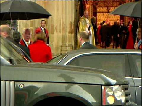 queen elizabeth ii diamond wedding anniversary service arrivals england london westminster abbey guests arriving for the service to commemorate the... - princess michael of kent stock videos and b-roll footage