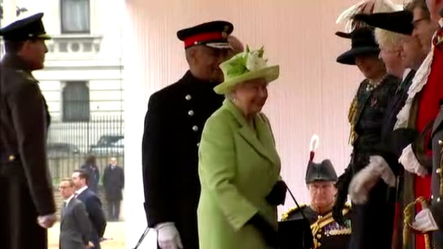 queen elizabeth ii hosted the colombian president juan manuel santos on his visit to the uk shows queen elizabeth ii and prince philip duke of... - horse guards parade stock videos and b-roll footage