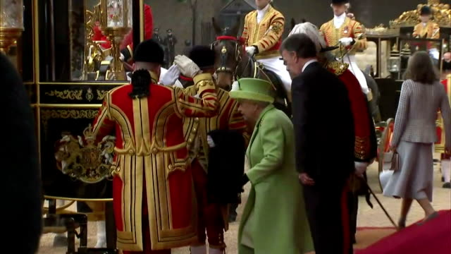 queen elizabeth ii hosted the colombian president juan manuel santos on his visit to the uk shows royals including queen elizabeth ii and prince... - horse guards parade stock videos and b-roll footage