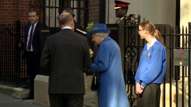 Queen Elizabeth II leaving the GCHQ building