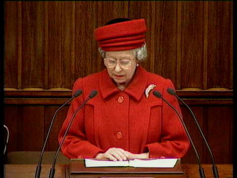 queen elizabeth ii making speech says - income tax stock videos and b-roll footage