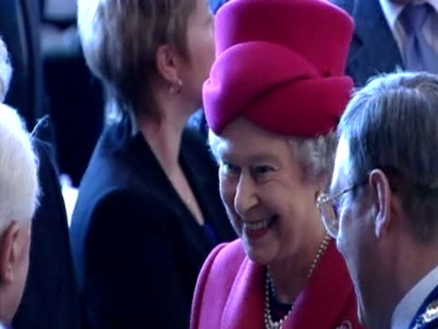 queen elizabeth ii meets local people in stornoway during her golden jubilee royal tour - golden jubilee stock videos & royalty-free footage