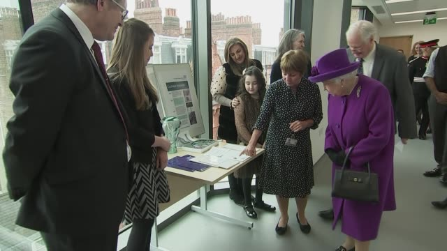 queen elizabeth ii opening of new royal national ent and eastman dental hospitals england london bloomsbury int queen elizabeth ii chatting to staff... - audio software stock videos & royalty-free footage
