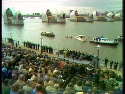 Queen Elizabeth II opens Thames Tidal Barrier 1984