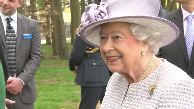 Queen Elizabeth II Patron of the Zoological Society of London accompanied by The Duke of Edinburgh Honorary Fellow this morning opened the Centre for...