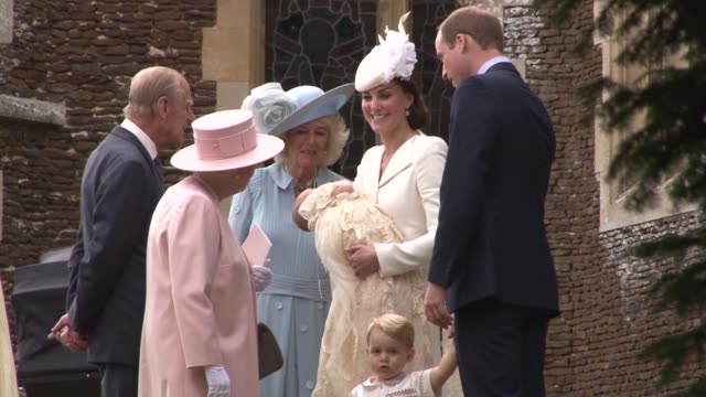queen elizabeth ii prince phillip duke of cambridge camilla duchess of cornwallcatherine duchess of cambridge prince william duke of cambridge... - elizabeth ii stock videos & royalty-free footage