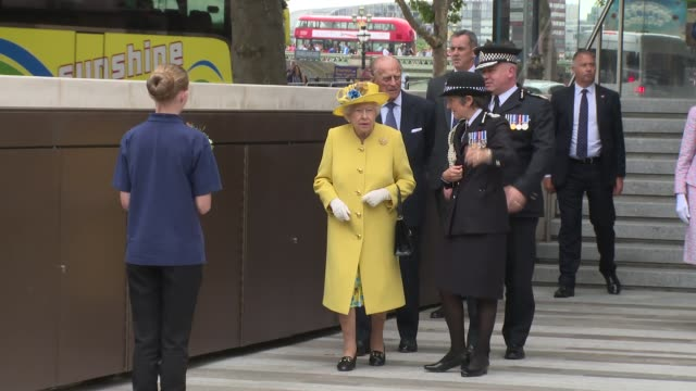 hrh queen elizabeth ii the duke of edinburgh on july 13 2017 in london england - königin elisabeth ii. von england stock-videos und b-roll-filmmaterial