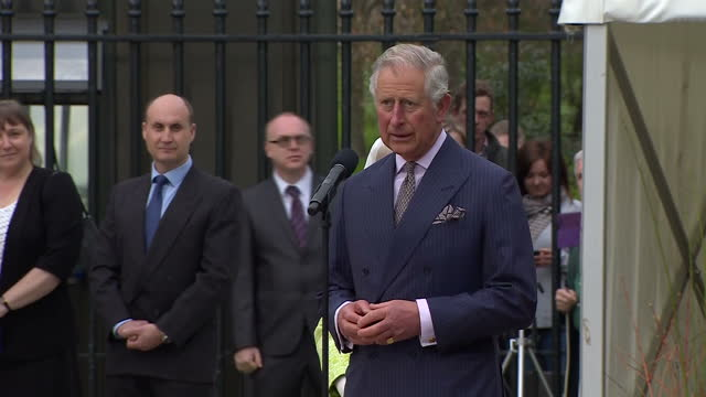 queen elizabeth ii today celebrated her 90th birthday son charles prince of wales made a short speech ahead of a beacon lighting ceremony at windsor... - 90th birthday stock videos and b-roll footage