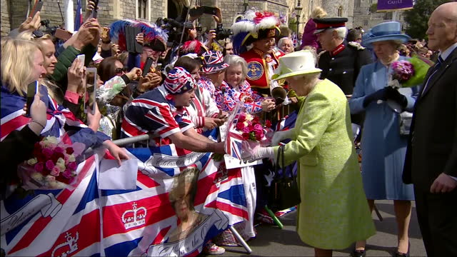 queen elizabeth ii today celebrated her 90th birthday the queen was joined by husband prince philip duke of edinburgh as she accepted birthday cards... - 90th birthday stock videos and b-roll footage