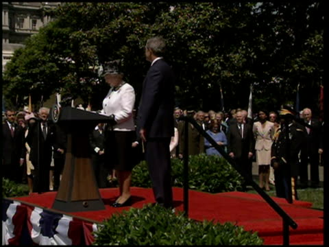queen elizabeth ii visit to white house queen elizabeth ii speech sot mr president thank you for your warm words / this is my fifth visit to the... - virginia us state stock videos and b-roll footage