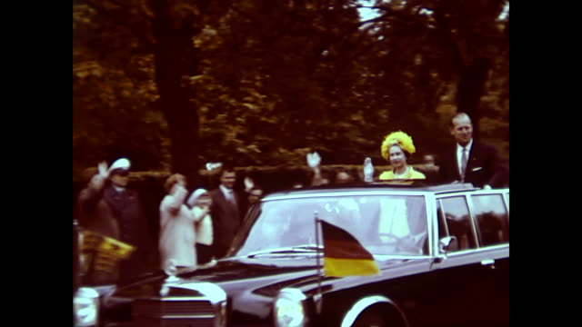 queen elizabeth ii visiting west berlin royal airforce gatow policemen with bycicles waiting airplane in the sky traffic policemen gives orders many... - mercedes benz stock videos & royalty-free footage